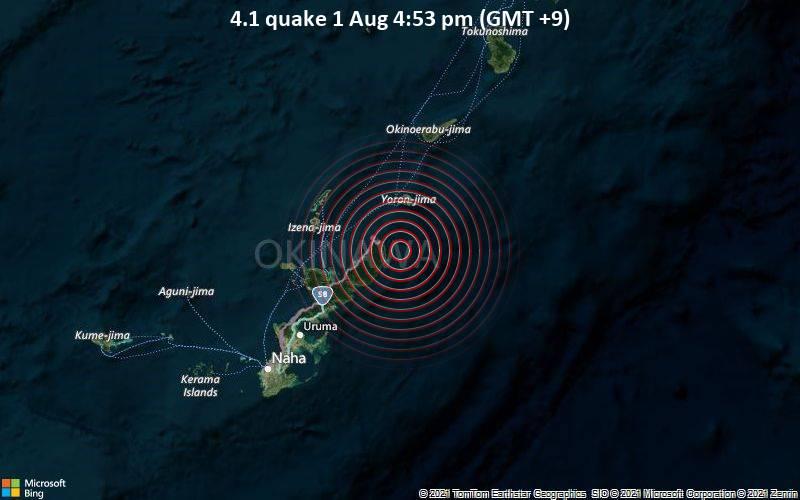 4.1 quake 1 Aug 4:53 pm (GMT +9)