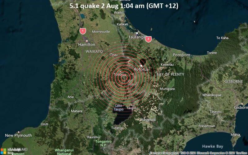 5.1 quake 2 Aug 1:04 am (GMT +12)
