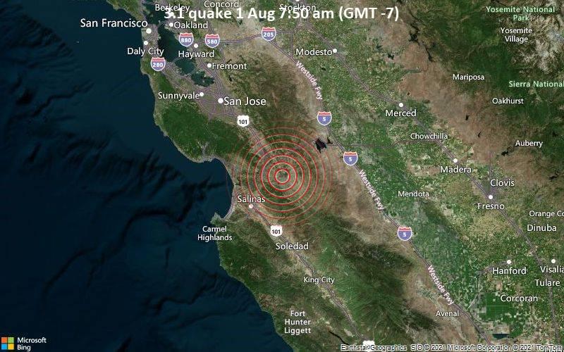 3.1 quake 1 Aug 7:50 am (GMT -7)