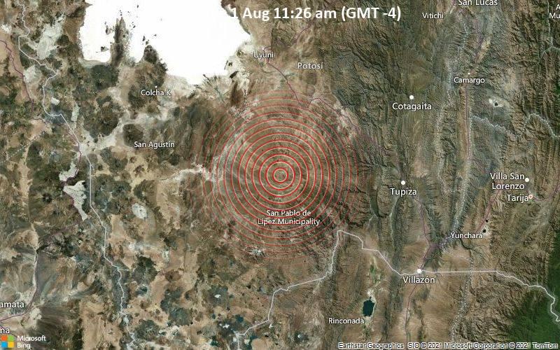 4.6 quake 1 Aug 11:26 am (GMT -4)