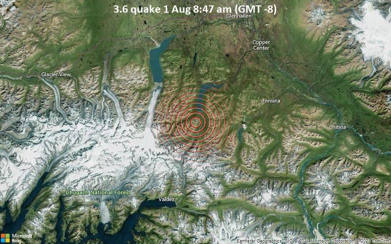 3.6 quake 1 Aug 8:47 am (GMT -8)