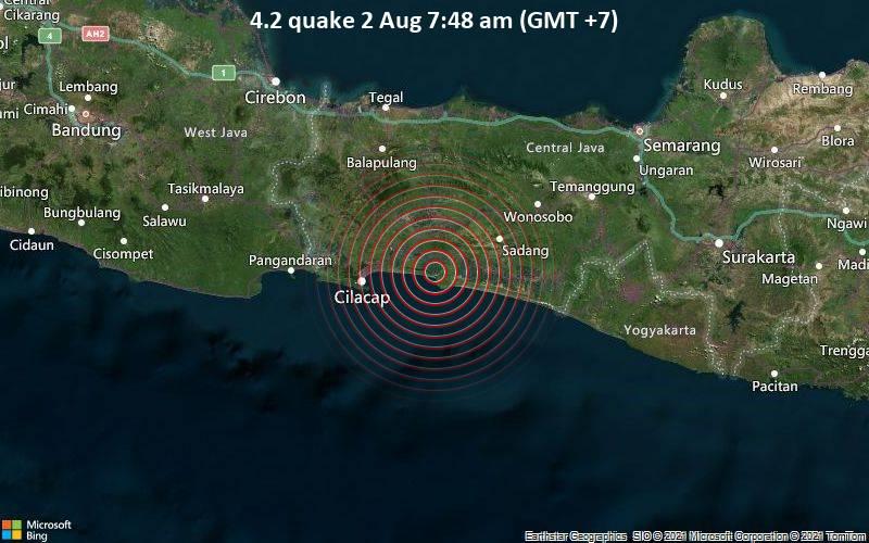 4.2 quake 2 Aug 7:48 am (GMT +7)