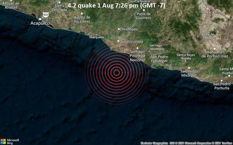 4.2 quake 1 Aug 7:26 pm (GMT -7)
