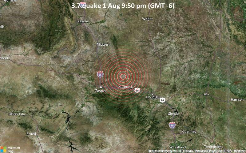3.7 quake 1 Aug 9:50 pm (GMT -6)