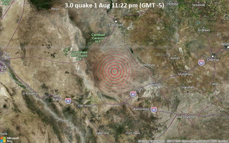3.0 quake 1 Aug 11:22 pm (GMT -5)