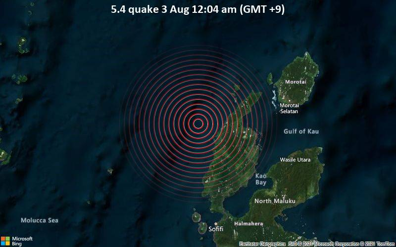 5.4 quake 3 Aug 12:04 am (GMT +9)