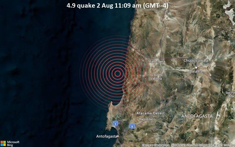 4.9 quake 2 Aug 11:09 am (GMT -4)