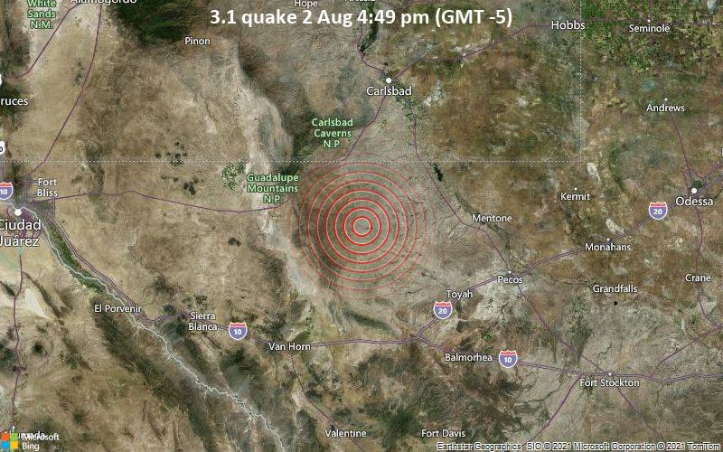 3.1 quake 2 Aug 4:49 pm (GMT -5)