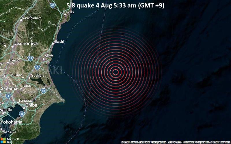 5.8 quake 4 Aug 5:33 am (GMT +9)