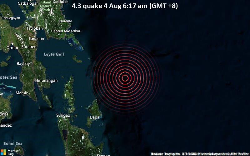 4.3 quake 4 Aug 6:17 am (GMT +8)