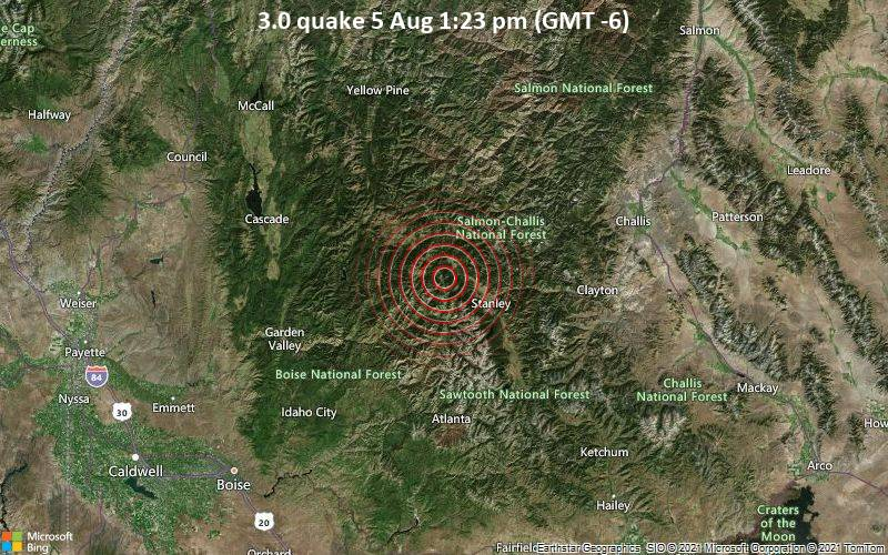 3.0 quake 5 Aug 1:23 pm (GMT -6)