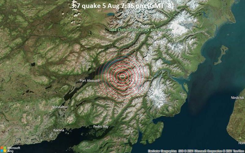 3.7 quake 5 Aug 7:36 pm (GMT -8)
