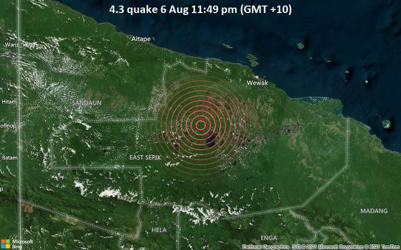 4.3 quake 6 Aug 11:49 pm (GMT +10)