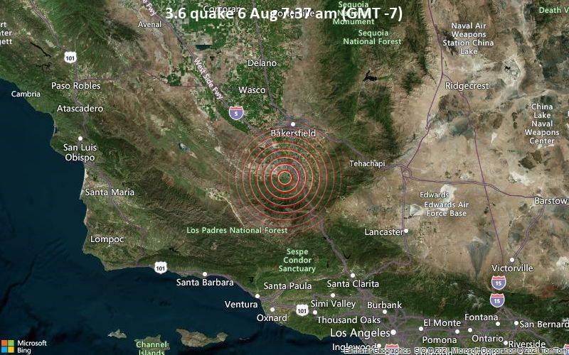 3.6 quake 6 Aug 7:37 am (GMT -7)