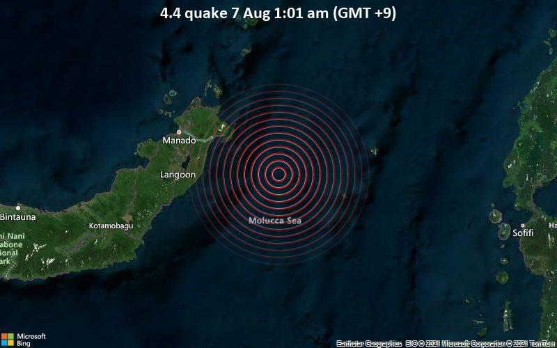 4.4 quake 7 Aug 1:01 am (GMT +9)