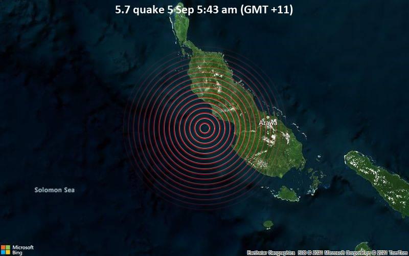 5.7 Beben 5. September 5:43 Uhr (GMT +11)