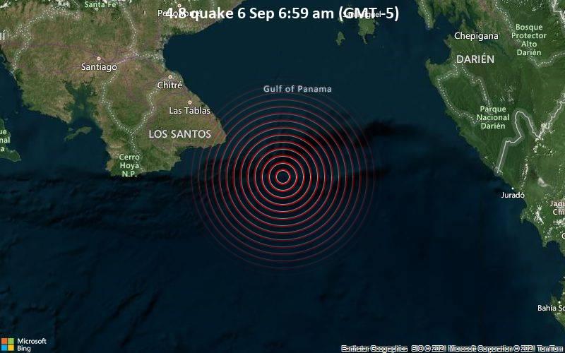 4.8 quake 6 Sep 6:59 am (GMT -5)