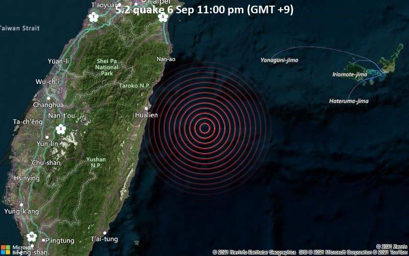 5.2 quake 6 Sep 11:00 pm (GMT +9)