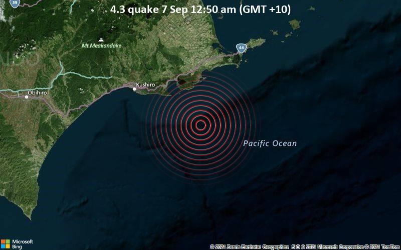 4.3 quake 7 Sep 12:50 am (GMT +10)