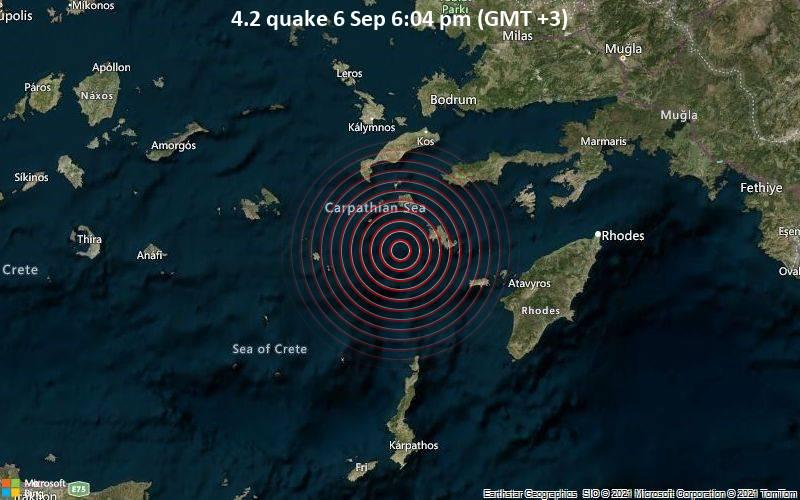 4.2 quake 6 Sep 6:04 pm (GMT +3)