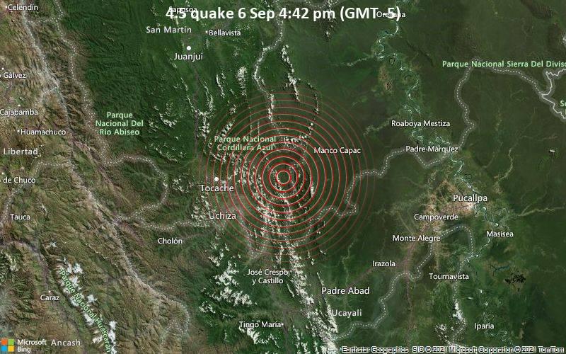 4.5 quake 6 Sep 4:42 pm (GMT -5)