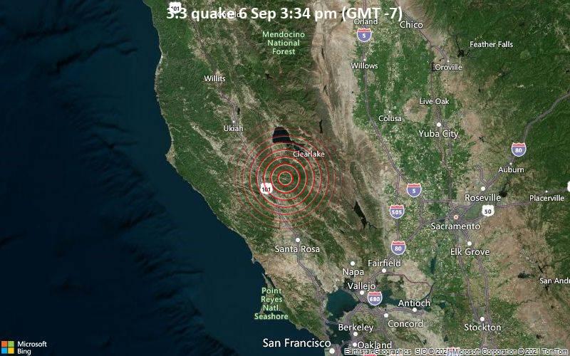3.3 quake 6 Sep 3:34 pm (GMT -7)