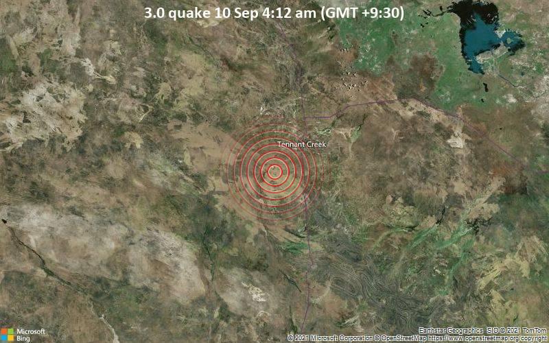 3.0 quake 10 Sep 4:12 am (GMT +9:30)