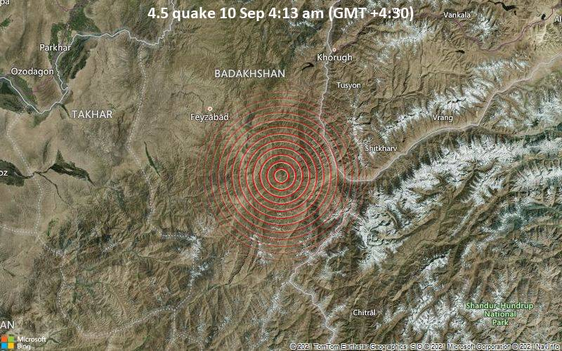 4.5 quake 10 Sep 4:13 am (GMT +4:30)