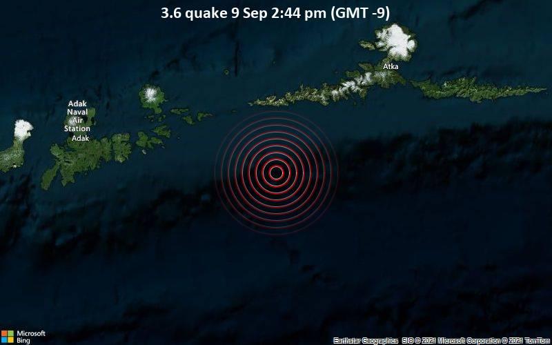 3.6 quake 9 Sep 2:44 pm (GMT -9)