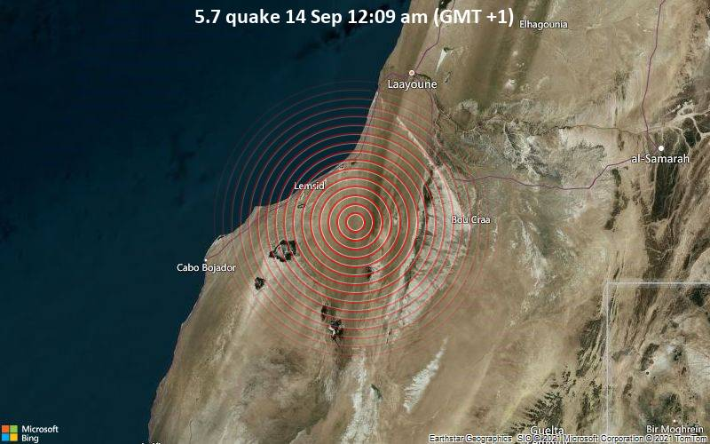 5.7 quake 14 Sep 12:09 am (GMT +1)