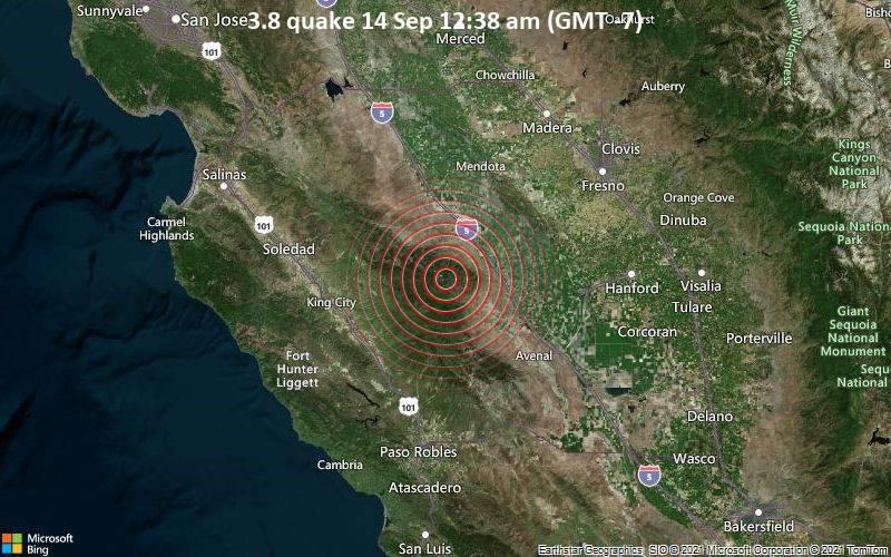 3.8 quake 14 Sep 12:38 am (GMT -7)