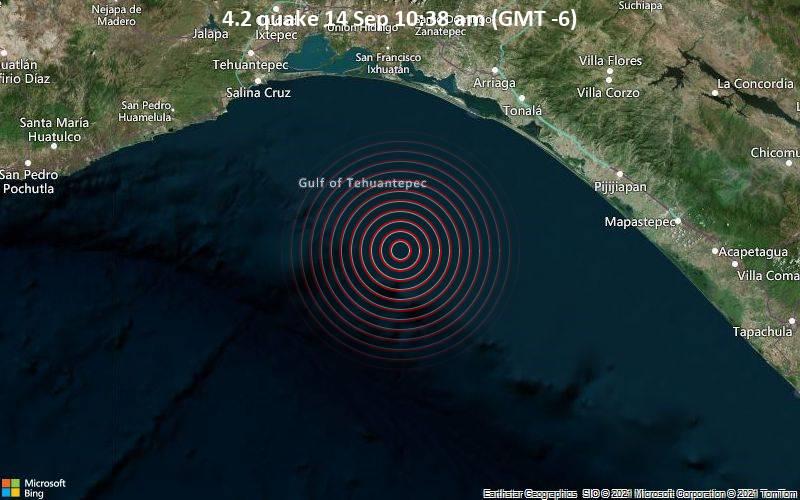 4.2 quake 14 Sep 10:38 am (GMT -6)