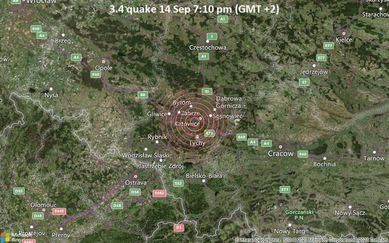 3.4 quake 14 Sep 7:10 pm (GMT +2)