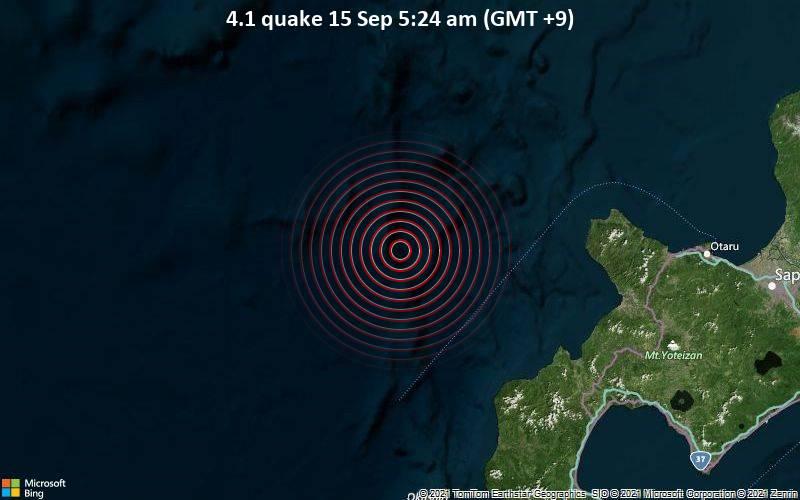 4.1 quake 15 Sep 5:24 am (GMT +9)