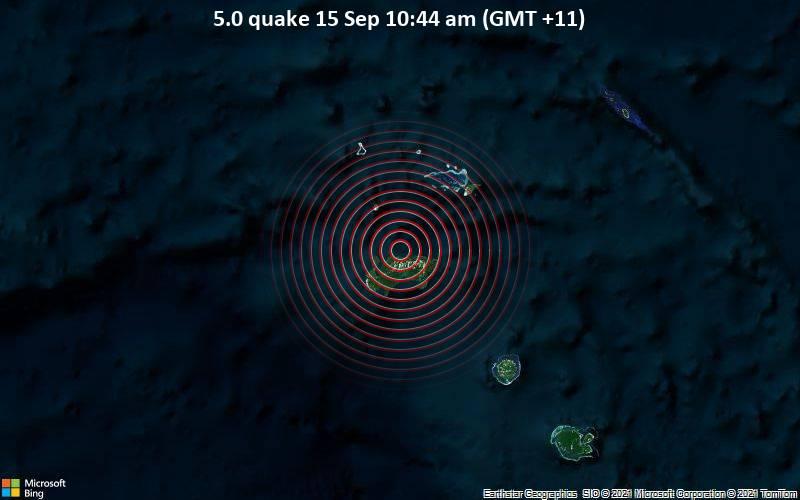 5.0 quake 15 Sep 10:44 am (GMT +11)