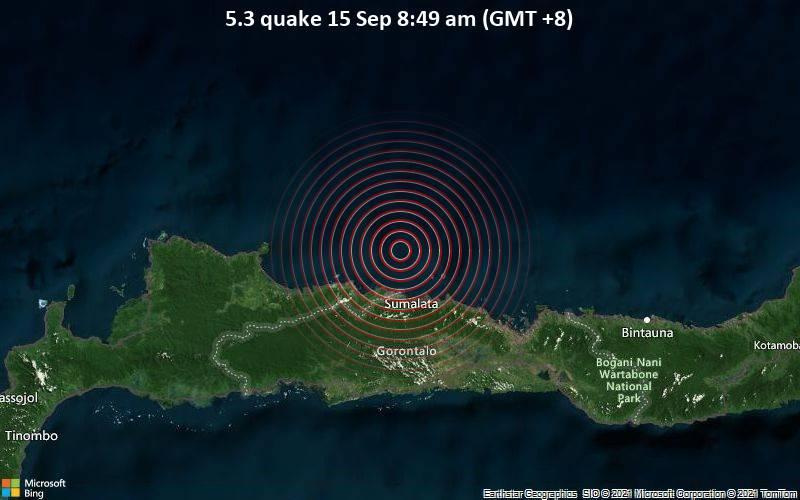 5.3 quake 15 Sep 8:49 am (GMT +8)