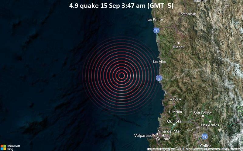 4.9 quake 15 Sep 3:47 am (GMT -5)