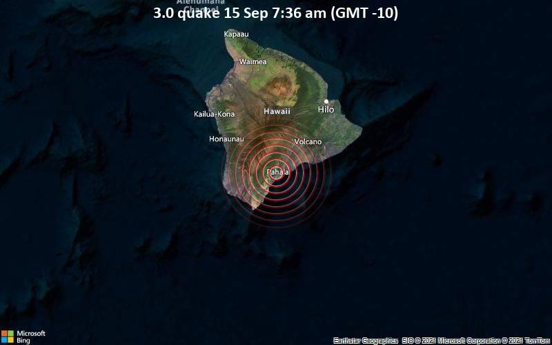 3.0 quake 15 Sep 7:36 am (GMT -10)