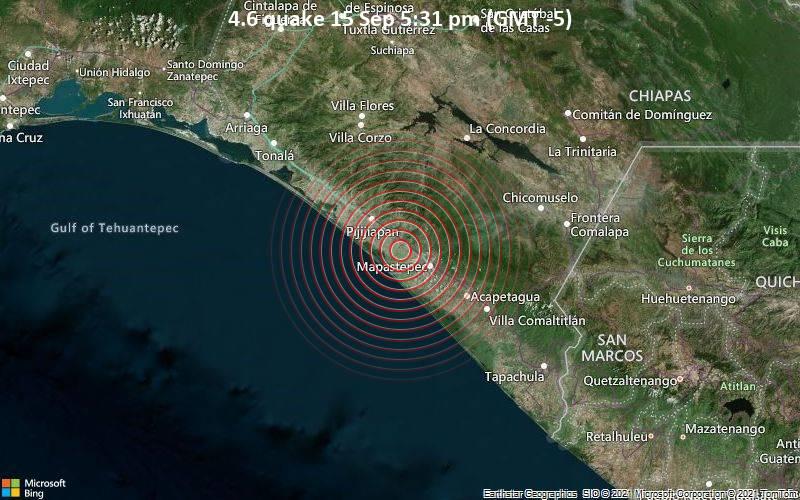 4.6 quake 15 Sep 5:31 pm (GMT -5)