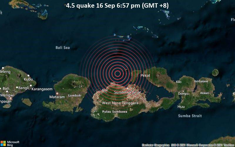4.5 quake 16 Sep 6:57 pm (GMT +8)