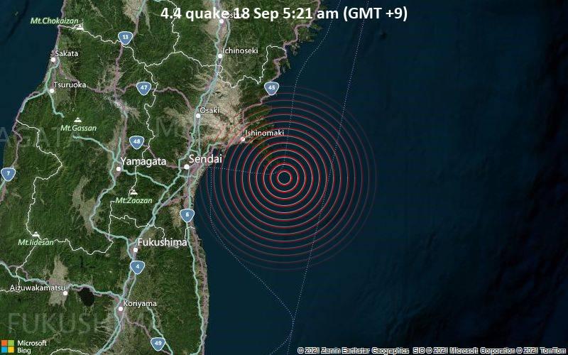 4.4 quake 18 Sep 5:21 am (GMT +9)