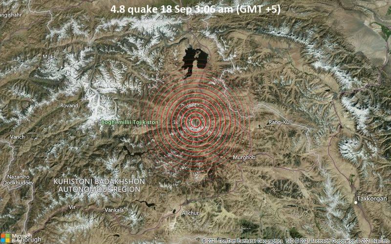 4.8 quake 18 Sep 3:06 am (GMT +5)