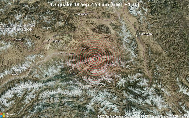 4.7 quake 18 Sep 2:53 am (GMT +4:30)