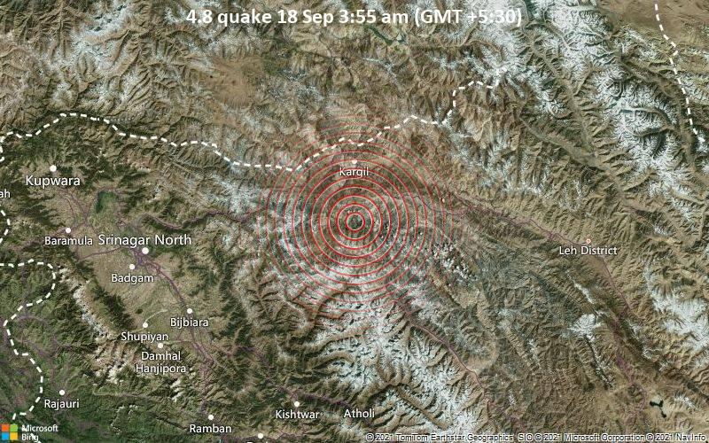 4.8 quake 18 Sep 3:55 am (GMT +5:30)