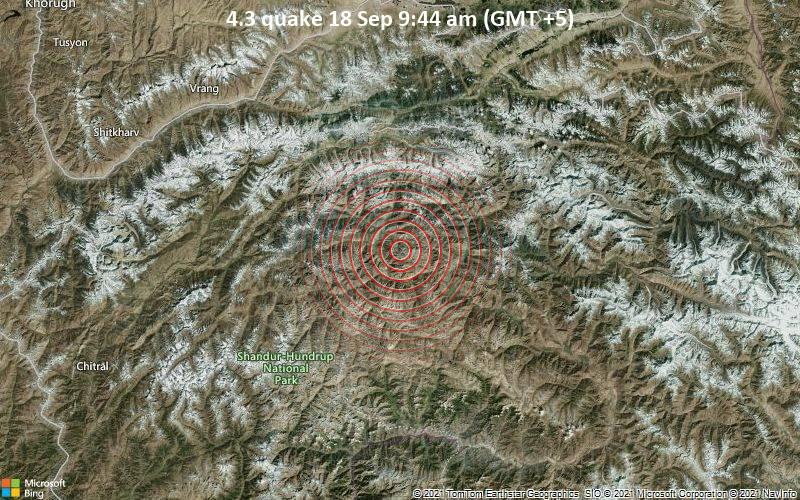 4.3 quake 18 Sep 9:44 am (GMT +5)