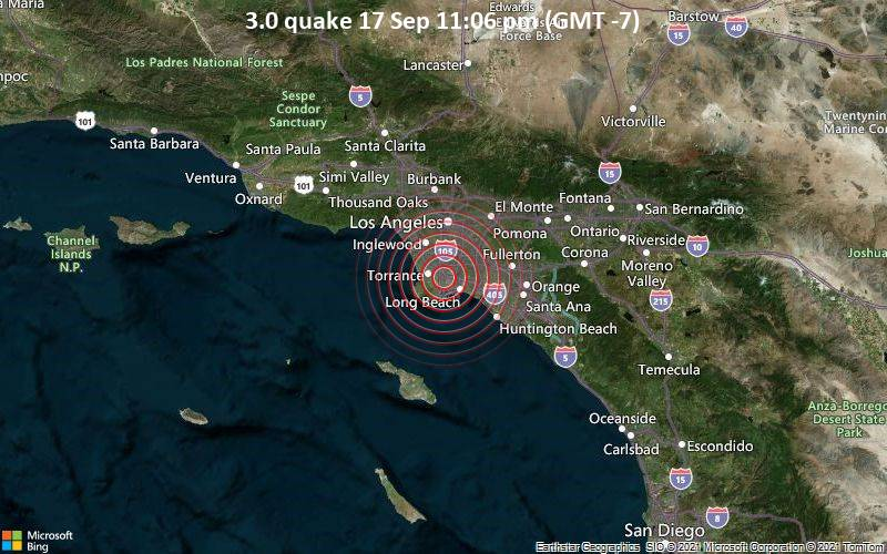 3.0 quake 17 Sep 11:06 pm (GMT -7)