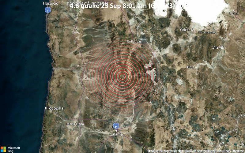 4.6 quake 23 Sep 8:01 am (GMT -3)