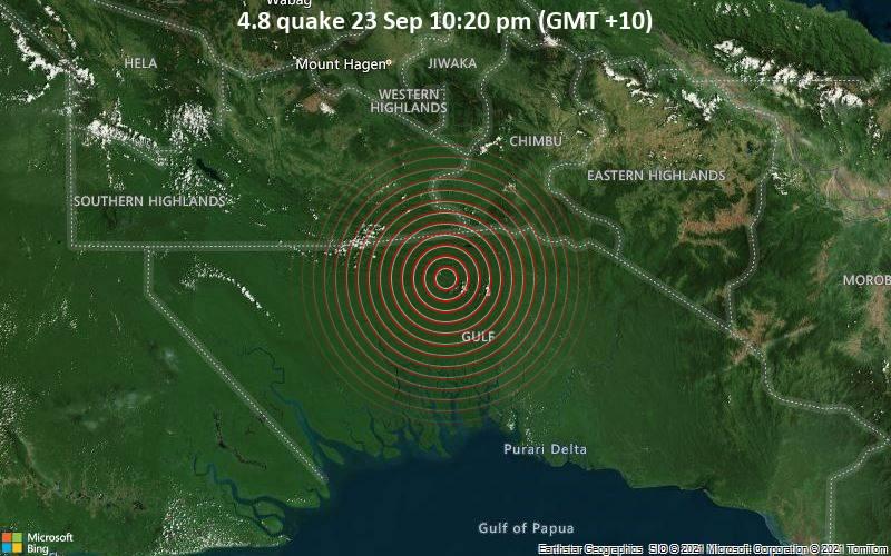 4.8 quake 23 Sep 10:20 pm (GMT +10)