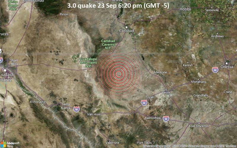 3.0 quake 23 Sep 6:20 pm (GMT -5)