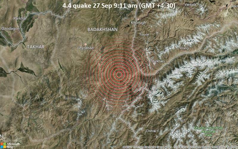 4.4 quake 27 Sep 9:11 am (GMT +4:30)